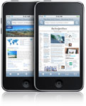 iPod touch with Safari